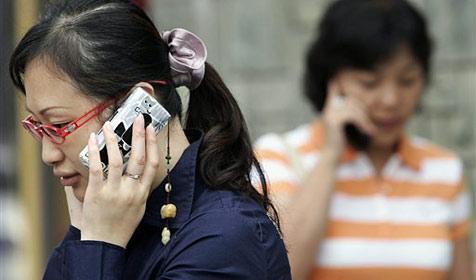 Fast eine Milliarde Mobilfunk-Anschlüsse in China