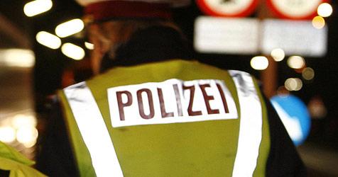 """""""Blauer"""" Lenker mäht mit Auto Telefonzelle nieder (Bild: APA/Herbert P. Oczeret)"""