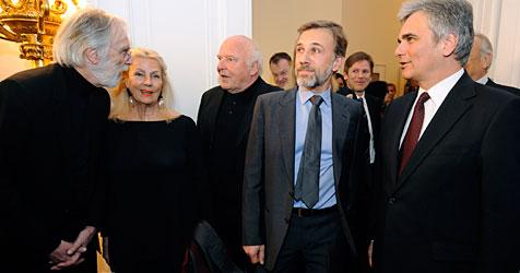 Oscar-Empfang für Waltz, Haneke und Berger in Wien (Bild: APA/Roland Schlager)