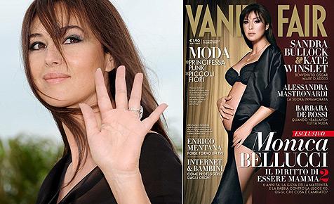 """Bellucci nackt und schwanger am """"Vanity Fair""""-Cover"""