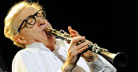 Woody Allen als Dixieland-Amateur in Wien (Bild: APA/Herbert Pfarrhofer)