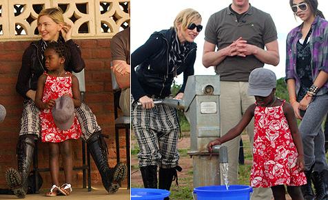 Madonna legt Grundstein für Mädchenschule