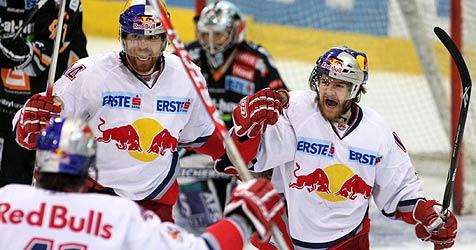 Meister Salzburg revanchiert sich bei Capitals mit  4:2 (Bild: APA/rubra)