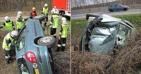 Zwei Unfälle auf der A4 in weniger als 24 Stunden (Bild: FF Fischamend)