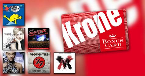 """Alben um -50% mit """"Krone BonusCard"""" und Amazon.at"""