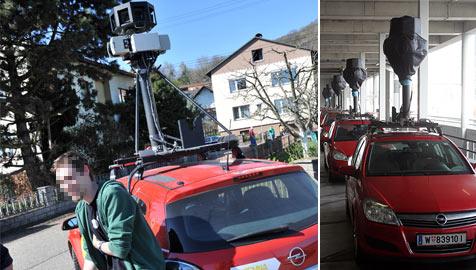 Pensionist ging mit Spitzhacke auf Google-Auto los (Bild: Horst Einöder, Andi Schiel)