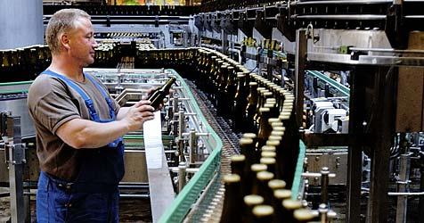 Arbeiten ohne Bier: Brauereimitarbeiter streiken