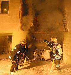 24-Jähriger rettet 35 Hausbewohner vor dem Feuer (Bild: FF Andorf)
