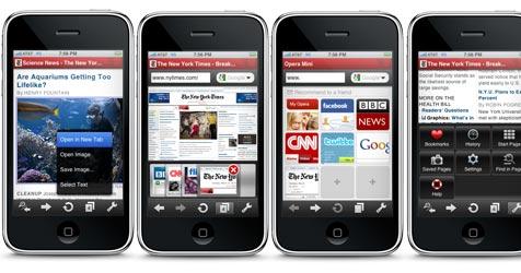 Apple lässt Opera-Browser für das iPhone zu (Bild: Opera)