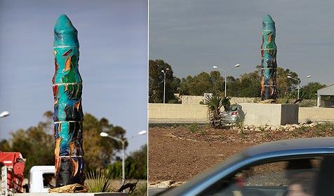 """Aufregung um """"Penis-Skulptur"""" vor Papstbesuch (Bild: AFP)"""