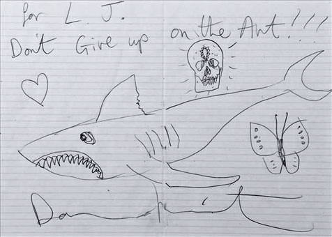 Damien Hirst schenkt Londoner Taxler Zeichnung (Bild: Dreweatts & Bloomsbury)