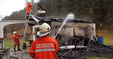 Spraydosen lösen Explosions-Alarm in Hollersbach aus (Bild: Niki Faistauer)