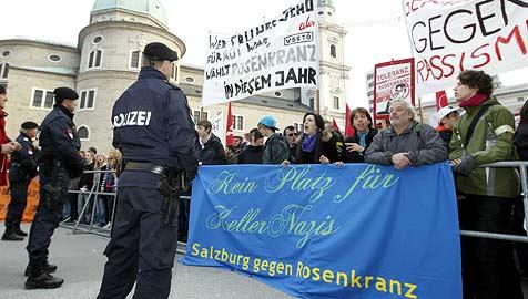Mehr Gegner als Fans bei Auftritt von Rosenkranz (Bild: Markus Tschepp)