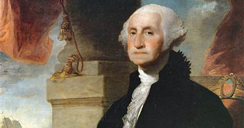 Bibliothek wartet auf Bücher von George Washington