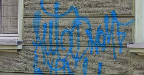 Badener Polizisten forschen freche Sprayer-Bande aus (Bild: Christof Birbaumer)
