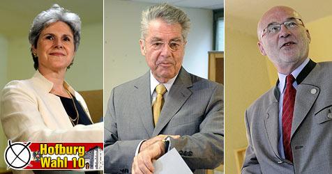 Fischer bei BP-Wahl eindeutig in seinem Amt bestätigt (Bild: APA, krone.at)