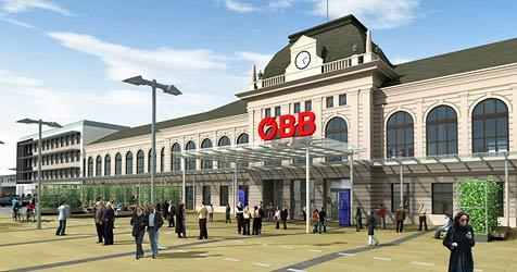 Großer Bahnhof in St. Pölten - Neubau lockt bald Pendler (Bild: ÖBB)