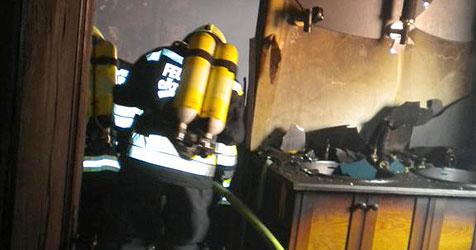 Wohnhausbrand im Stadtzentrum von Rohrbach (Bild: FF Rohrbach)