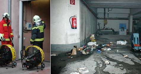 Feuer in Tiefgarage in Wr. Neudorf ausgebrochen (Bild: FF Wr. Neudorf)