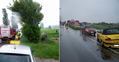 Vier Verletzte bei Crash zweier Pkws auf B20 in St. Pölten (Bild: Feuerwehr St.Georgen)