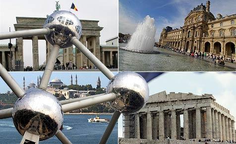 Kennst du die Sehenswürdigkeiten Europas?