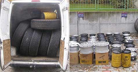 Ungarische Bande klaut Reifen um 300.000 Euro (Bild: Polizei)