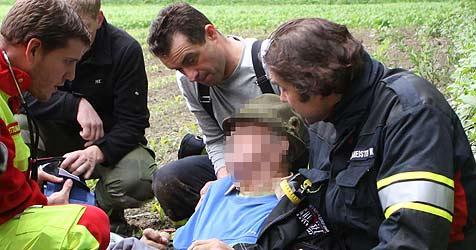 Vermisster Demenzkranker in Feld gefunden (Bild: Kollinger)