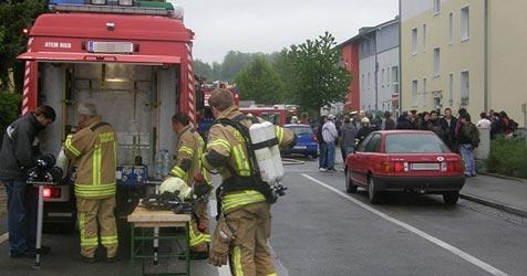 Kellerbrand - zwei Wohnblöcke in Ried evakuiert (Bild: FF Ried im Innkreis)
