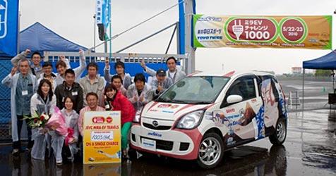 Ohne aufzuladen: Elektroauto fährt 1.000 km weit (Bild: Japan Electric Vehicle Club)