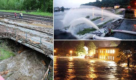 Dauerregen löste Überflutungen und Vermurungen aus (Bild: Andreas Kreuzhuber, Markus Tschepp (2))