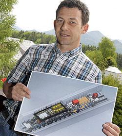 Eugendorfer Firma entwickelt Maschine für Gotthard-Tunnel (Bild: Markus Tschepp)