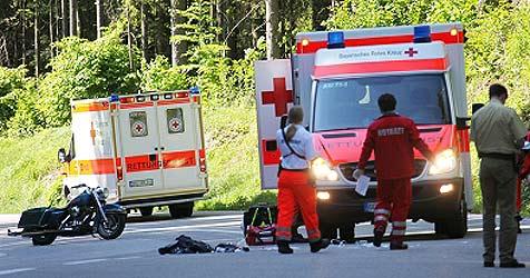 Salzburgerin stirbt bei Motorradunfall in Bayern (Bild: Bayrisches Rotes Kreuz)