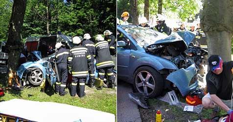 Vier Menschen bei zwei Unfällen schwer verletzt (Bild: Freiwillige Feuerwehr Gaming)