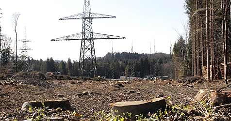 Gaisberg unter Strom - 380-kV-Leitung geplant (Bild: Tschepp)