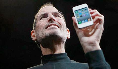 Steve Jobs verteilt Seitenhiebe in Richtung Google (Bild: AP)
