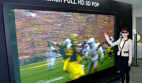 Panasonic baut Riesen-3D-Fernseher in Serie (Bild: AP)