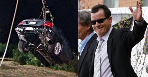 Autodiebe fahren Charlie Sheens Wagen zu Schrott