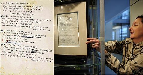 Lennon-Manuskript für eine Million Dollar versteigert