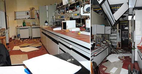 Explosion in Linzer Uni - drei Studenten verletzt (Bild: APA/Werner Kerschbaummayr)