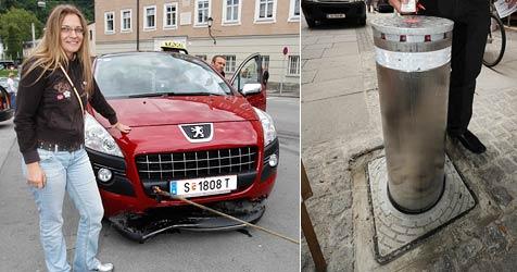 Chaos in der  Altstadt - Poller schlitzte Taxi auf (Bild: Markus Tschepp/ APA/BARBARA GINDL)