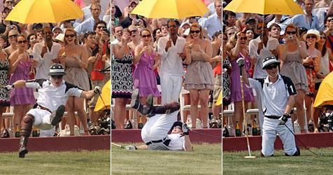 Prinz Harry bei Benefiz-Polospiel vom Pferd gefallen