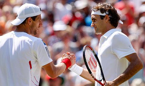 Wimbledon: Melzer unterliegt Federer glatt in drei Sätzen