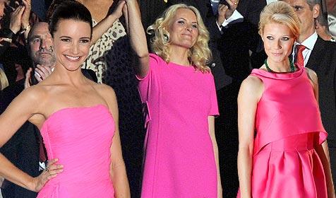 Gwyneth, Mette und Co: Stars lieben die Farbe Pink! (Bild: AP, EPA)