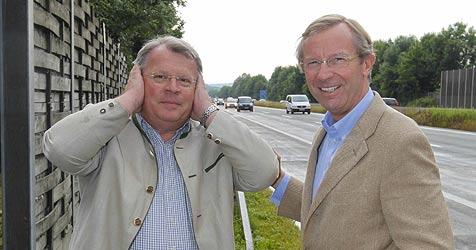 Jubel in Grödig: Lärmschutz an der A10 schon ab 2012 (Bild: Markus Tschepp)