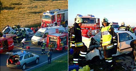 Ein Toter und drei schwer Verletzte bei Frontalcrash (Bild: ÖAMTC)