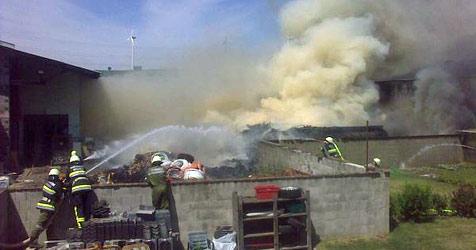 Großbrand in Recyclingbetrieb hat nun Nachspiel (Bild: Stefan Öllerer)