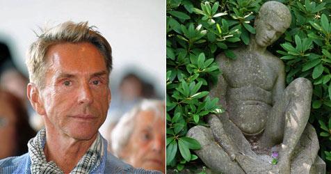 Wolfgang Joops Familiengrab beschädigt (Bild: AP Photo, dpa-Zentralbild/Bettina Hamann)