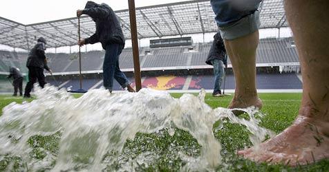 Red Bull gegen Innsbruck fällt dem Regen zum Opfer (Bild: Andreas Tröster)