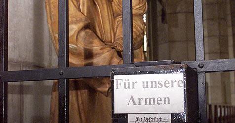 Dreiste Diebe scheitern an Opferstock in Kirche (Bild: Peter Tomschi)