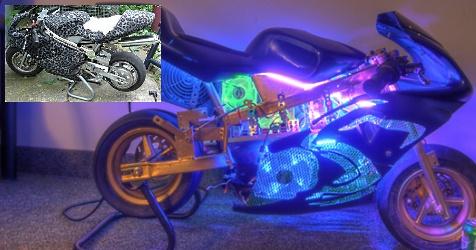 Bastler verwandelt Motorrad in eindrucksvollen PC (Bild: forums.bit-tech.net)